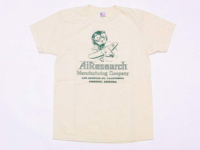 Buzz Rickson's[バズリクソンズ] Tシャツ BR77275 AIRESEARCH (YELLOW)