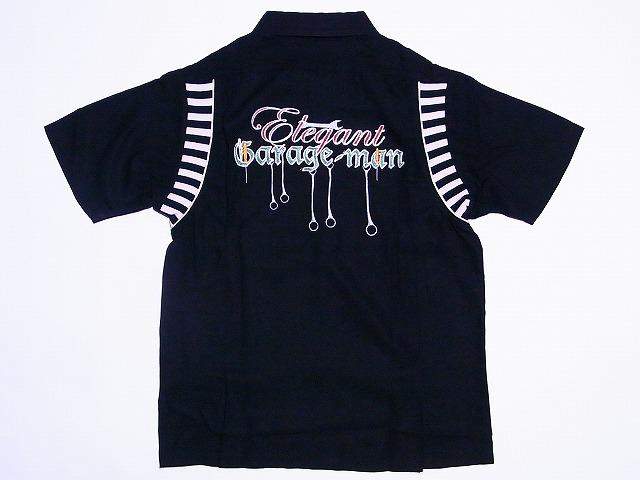 Dry Bones[ドライボーンズ] ボウリングシャツ Elegant Garage-man DS-1812 (ブラック) 送料無料【smtb-kd】