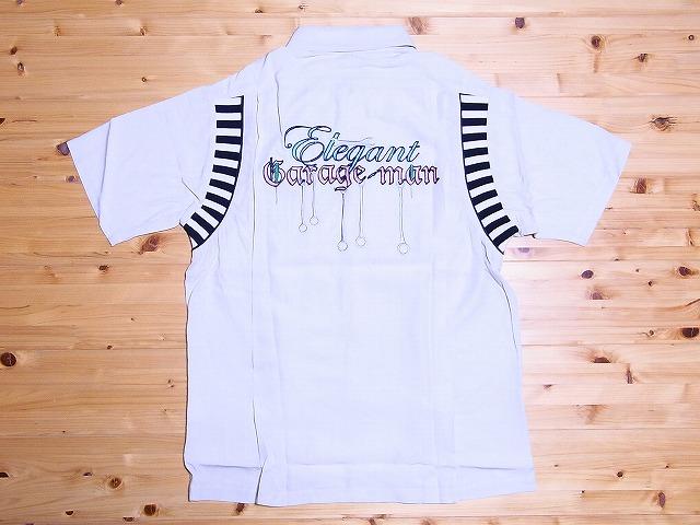 Dry Bones[ドライボーンズ] ボウリングシャツ Elegant Garage-man DS-1812 (オフホワイト) 送料無料【smtb-kd】