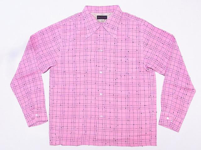 Dry Bones[ドライボーンズ] オープンシャツ 長袖 Nep Yarn Open Shirt DS-2246 (PINK) 送料無料 代引き手数料無料