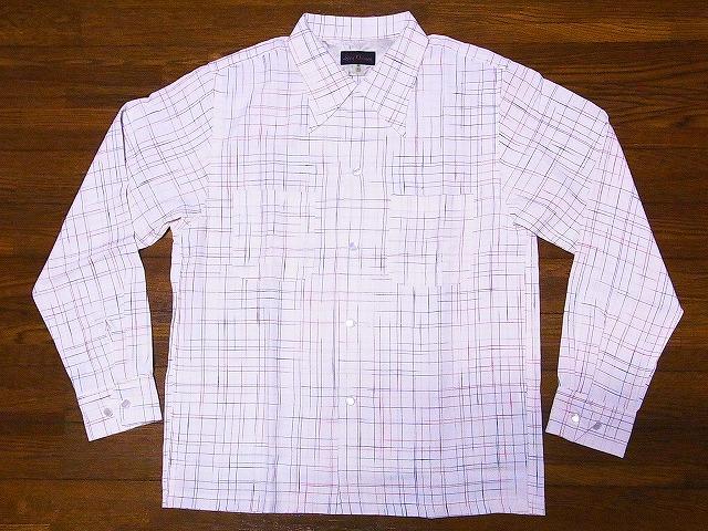 Dry Bones ドライボーンズ DS-2335 長袖 オープンカラーシャツ 2017 セットアップ オープンシャツ WHITE Cross Shirt Nep 送料無料 代引き手数料無料 Open アウトレット☆送料無料 OFF