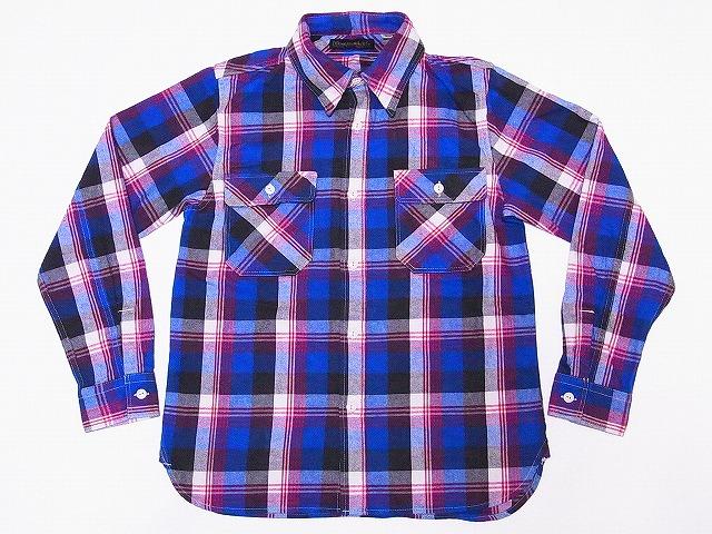 FULLCOUNT[フルカウント] ネルシャツ 4980EX-2 ギャバジンチェック 25周年記念モデル (ブルー×レッド) 送料無料 代引き手数料無料