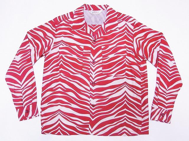 STAR OF HOLLYWOOD[スターオブハリウッド] オープンシャツ SH27878 長袖 ZEBRA ゼブラ柄 オープンカラーシャツ (レッド) 送料無料【smtb-kd】