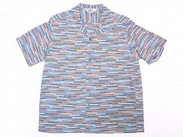 STAR OF HOLLYWOOD[スターオブハリウッド] オープンシャツ IRON NAILS SH37883 釘柄 半袖 オープンカラーシャツ (ミントグリーン) 送料無料 代引き手数料無料