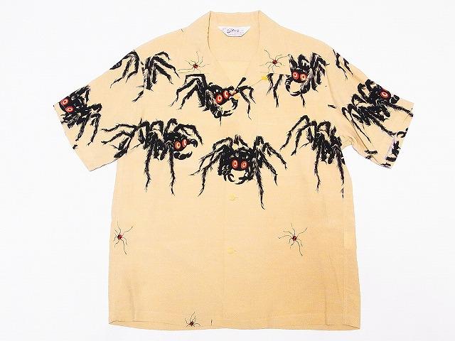 STAR OF HOLLYWOOD[スターオブハリウッド] オープンシャツ TARANTULA SH37875 半袖 タランチュラ オープンカラーシャツ (イエロー) 送料無料 代引き手数料無料