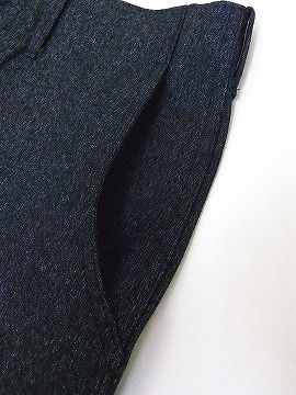 库什曼 [库什曼,工作裤黑摇摇晃晃 22686 扭曲灰色斜纹棉布裤黑色色织青年布长裤 (黑色混合) 现金交货费