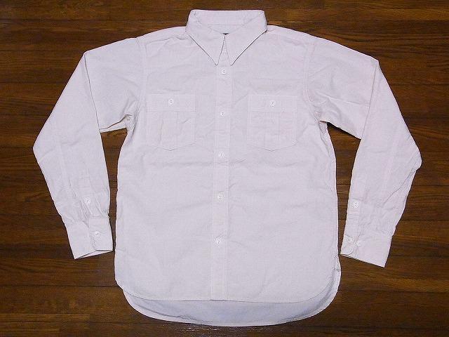 CUSHMAN[クッシュマン] シャンブレーシャツ 25511M 長袖 シャンブレーワークシャツ 30's HEADLIGHT MODEL 無地 (オフホワイト) 送料無料 代引き手数料無料
