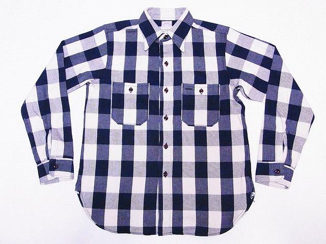 WAREHOUSE[ウエアハウス] ネルシャツ A柄 3104 フランネルシャツ FLANNEL SHIRTS バッファローチェック (ネイビー×オフホワイト) 送料無料 代引き手数料無料