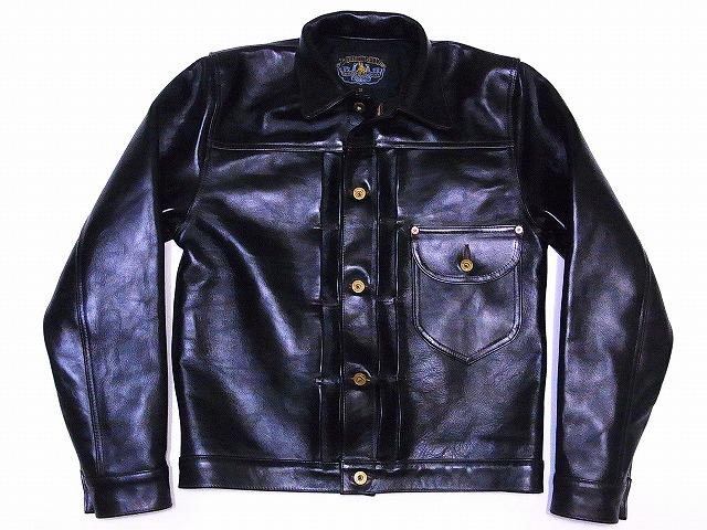 DOUBLE HELIX[ダブルヘリックス] レザージャケット 180401 Western Cowboy ジージャンタイプ ホースレザー カウボーイジャケット 革ジャン (ブラック) 送料無料 代引き手数料無料