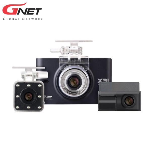 """ドライブレコーダー X3i 3カメラ 爆買い新作 セール フロント GNET 室内:FHD リア 3.5""""LCDモニター"""