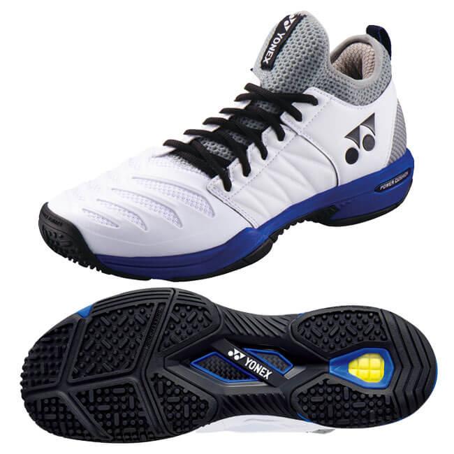 YONEX オムニクレー用テニスシューズ SHT-F3MGC ホワイトxオーシャンブルー(725)  パワークッションフュージョンレブ3
