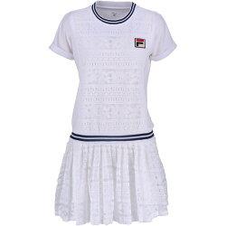 フィラ FILA テニスウェア レディース ワンピース VL1929 2019SS ホワイト フィラネイビー