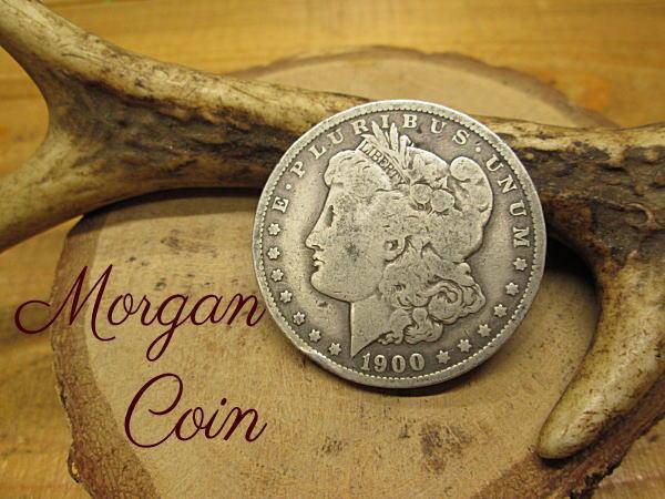 モーガン(モルガン)1ドルコイン【シルバー900】本物銀貨【1900年-o】アクセサリー 材料 パーツ クラフト コンチョ