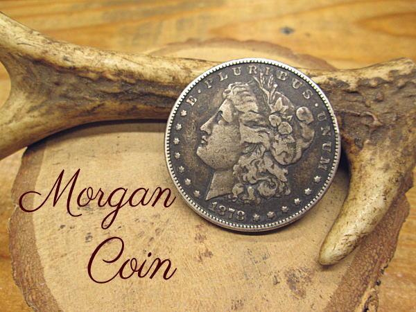 モーガン(モルガン)1ドルコイン【シルバー900】本物銀貨【1878年】アクセサリー 材料 パーツ クラフト コンチョ