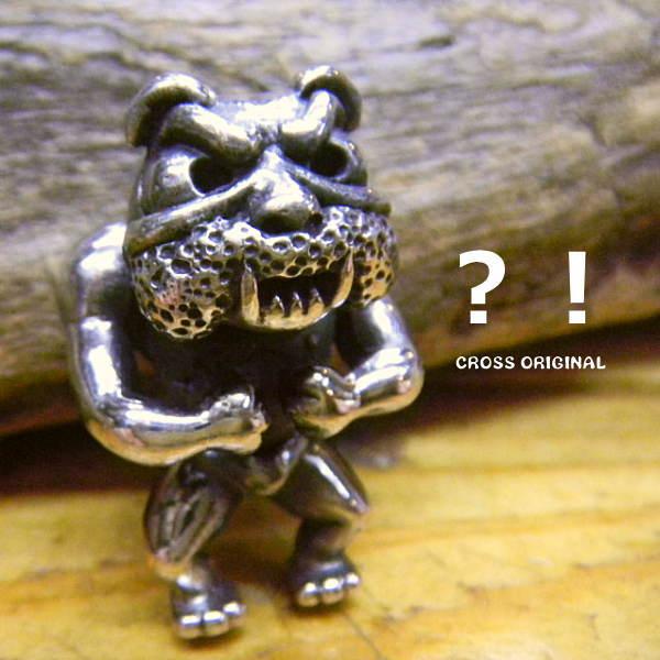 残りわずか!送料無料!【CROSS☆ORIGINAL】マッチョブル ペンダント トップ/Silver925/ブルドッグ犬/ファイター