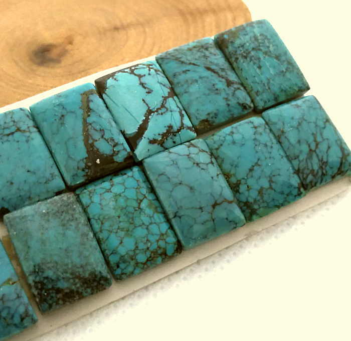 リング ペンダント制作に TR-10 ターコイズルース メール便OK ブルーグリーン アクセサリー製作 コレクションに お買い得品 彫金 送料無料新品 スクエア