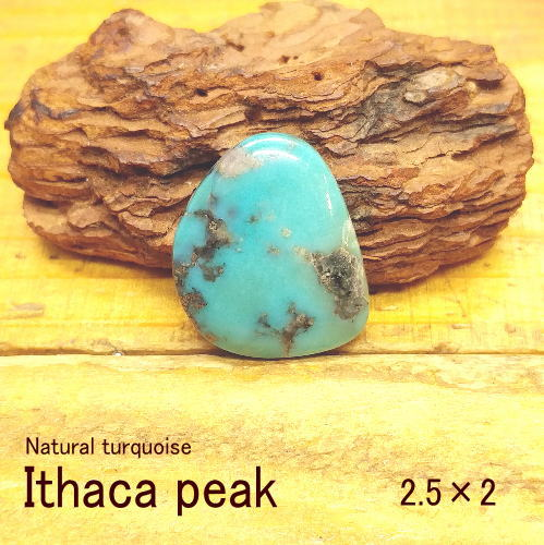 ターコイズ パイライト【Ithaca peak(イサカピーク)2.5×2】ルース【トルコ石】クラフト 材料 彫金 アクセサリー
