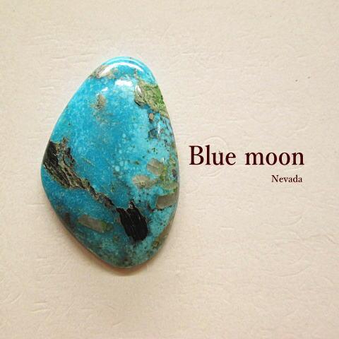 天然ターコイズ【Blue moon(Nevada)33.55ct】ルース【メール便OK】ブルームーン/石/トルコ石/アクセサリー/材料/ネックレス