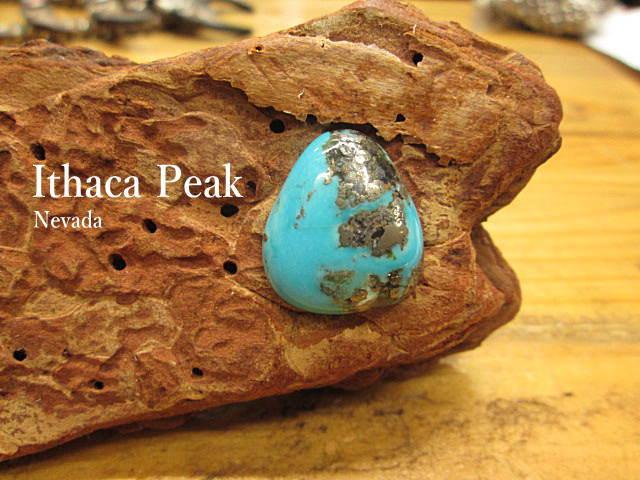 ターコイズ【Ithaca peak(Nevada)21.2ct】ルース【メール便OK】イサカピーク/パイライト/石/トルコ石/アクセサリー/材料/ネックレス