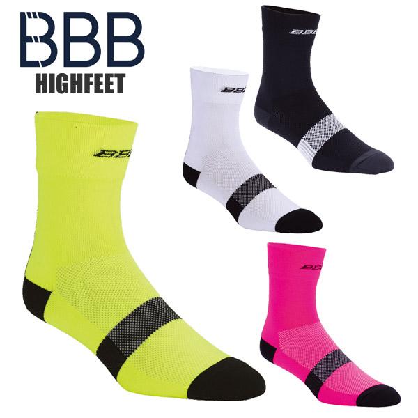 BBB ビービービー 激安セール ソックス ハイフィート BSO-07 靴下 サイクルソックス 時間指定不可 サイクルウェア サイクリングソックス