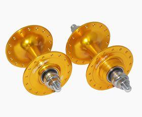 グランコンペ ハブ 前後セット 限定オレンジ カラー ピスト用シングルギアハブセット (ハブ) GRAN COMPE HUB Orenge Color DIA-COMPE ダイアコンペ