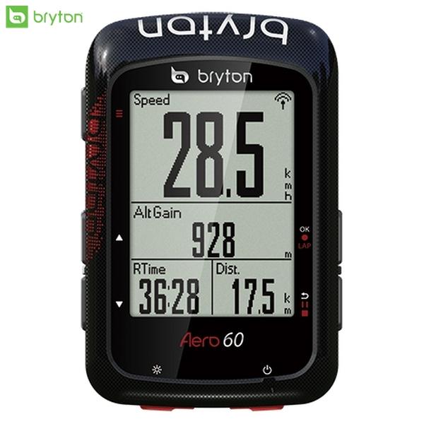Bryton ブライトン GPS サイクルコンピューター サイコン Aero 60 エアロ 60 トリプルセンサーキット スマートスピードセンサー・スマートケイデンスセンサー・スマートハートレートセンサー ロードバイク MTB 自転車
