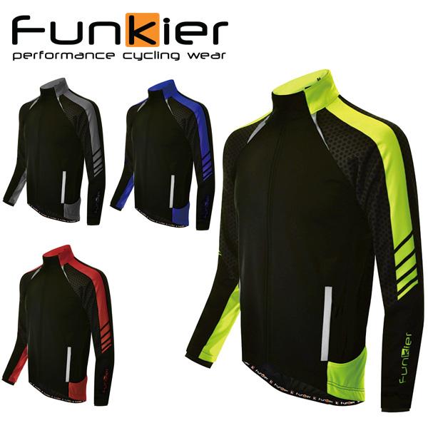 【送料無料】 Funkier ファンキアー Tolmezo サイクルジャージ 長袖 ウェア メンズ ウィンドブレーク 防水 防風 サイクルウェア ロードバイクウェア
