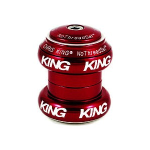 (CHRISKING/クリスキング)(自転車用ヘッドパーツ)NoThreadSet GripLock Headset 1-1/8 inch Red (Bold Logo)