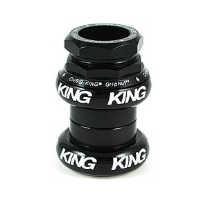 (CHRISKING/クリスキング)(自転車用ヘッドパーツ)GripNut Threaded Headset 1-1/8 Inch Black Bold Logo