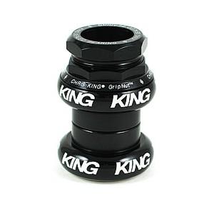 (CHRISKING/クリスキング)(自転車用ヘッドパーツ)GripNut Threaded Headset 1-1/8 Inch Black Bold Logo