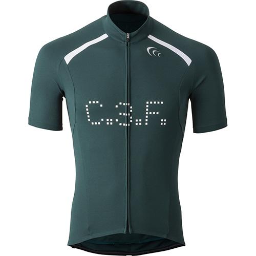 (C3fit/シースリーフィット)(自転車用ウェア/男性用/メンズ)グラフィックバイクジャージ Fグリーン M