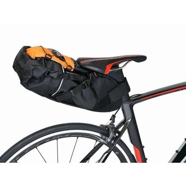 OSTRICH オーストリッチ サドルバッグ スマートイージーパック インナーバッグ付 ブラック/オレンジ 自転車 ロードバイク サイクリング アウトドア
