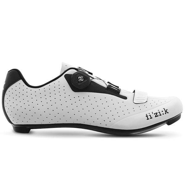 (fizik/フィジーク) R5B UOMO(メンズ)BOA ホワイト/ブラック サイクリングシューズ 自転車 ロードバイク シューズ サイクルシューズ サイクリング