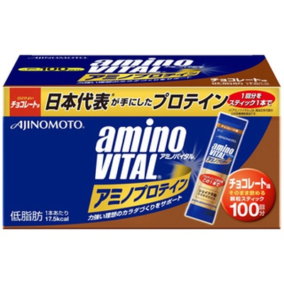 (aminoVITAL/アミノバイタル)(サプリメント)アミノバイタルプロテイン チョコ味 1箱(100 本入)