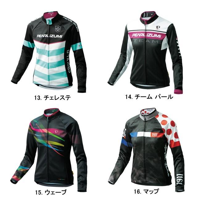 (PEARLiZUMi/パールイズミ)(自転車用ウェア/女性/レディース)(2016秋冬) プリント ジャージ(W7455-BL)