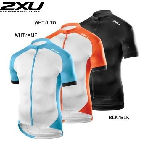(2XU/ツータイムズユー)(自転車用ウェア/男性用/メンズ)Active Cycle Jersey (アクティブサイクルジャージ) (MC3265a)