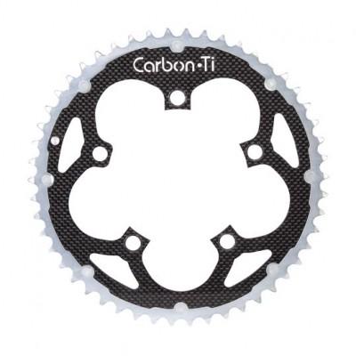 (カーボンチ/CarbonTi)(自転車用チェーンリング)X-Ring ROAD Al/Ca 110 カンパ アウター