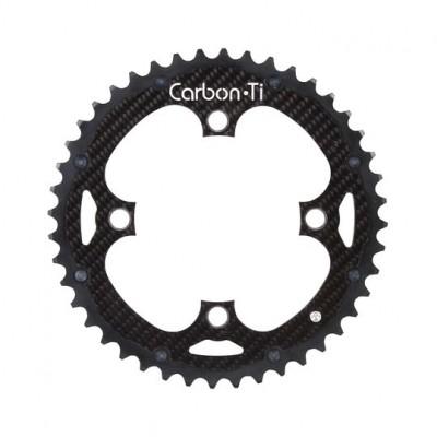 (カーボンチ/CarbonTi)(自転車用チェーンリング)チェーンリング 104 アウター アルミ/カーボン