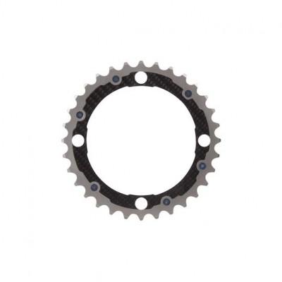 (カーボンチ/CarbonTi)(自転車用チェーンリング)チェーンリング 104 ミドル チタン/カーボン