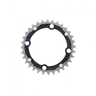 (カーボンチ/CarbonTi)(自転車用チェーンリング)チェーンリング 102 ミドル チタン/カーボン