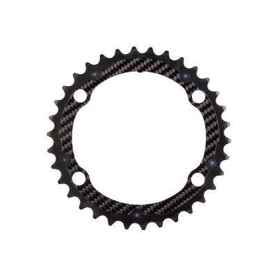 (カーボンチ/CarbonTi)(自転車用チェーンリング)X-Ring ROAD Al/Ca 110 インナー 4arms