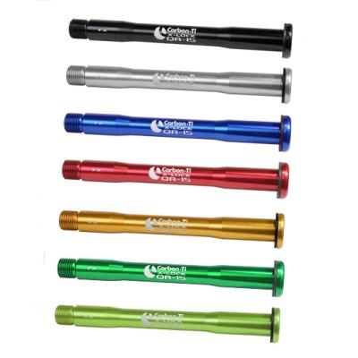 (CarbonTi/カーボンチ)(自転車用スルーアクスル)X-Lock QR15 Fox  ライトグリーン