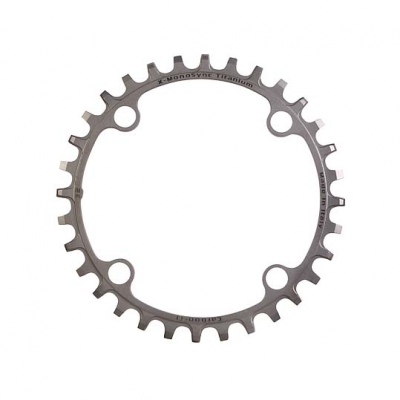 (CarbonTi/カーボンチ)(自転車用チェーンリング関連)X-MONOSYNC (104/30T) フルチタン