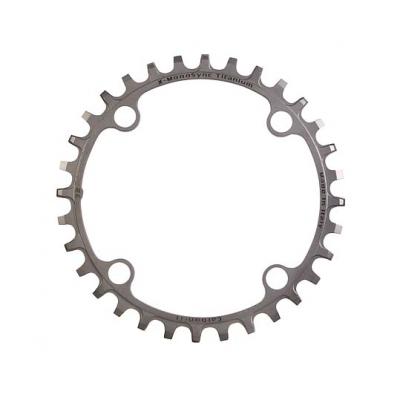 (CarbonTi/カーボンチ)(自転車用チェーンリング関連)X-MONOSYNC (104/32T) フルチタン