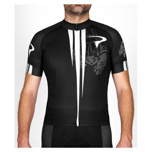 (PINARELLO/ピナレロ)(自転車用ウェア/男性用/メンズ)Corsa - RHINO フルジップジャージ Black/White  XS