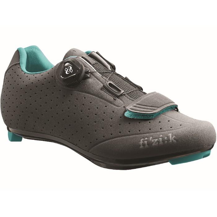 (fizik/フィジーク)(自転車用シューズ/靴用品)R5B DONNA(ウィメンズ)BOA グレー/エメラルド 39.5(R5WB 1252 395) 25.35cm