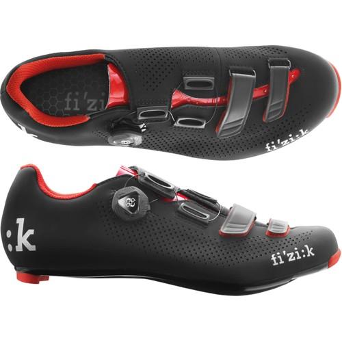 (fizik/フィジーク)(自転車用シューズ/靴)R4B UOMO(メンズ)BOA(BK/レッド 44.5(R4MCABC 1030 445))