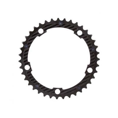 (カーボンチ/CarbonTi)(自転車用チェーンリング)(130/39T) アルミ(ブラック)/カーボン
