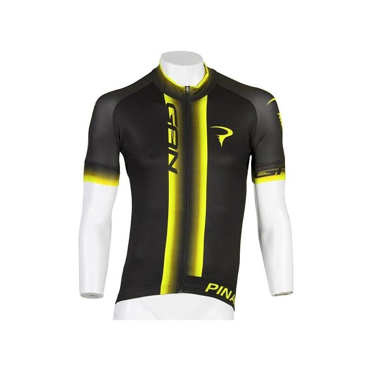 (PINARELLO/ピナレロ)(自転車用ウェア/男性用/メンズ)Corsa - GAN フルジップジャージ Black/Yellow Fluo