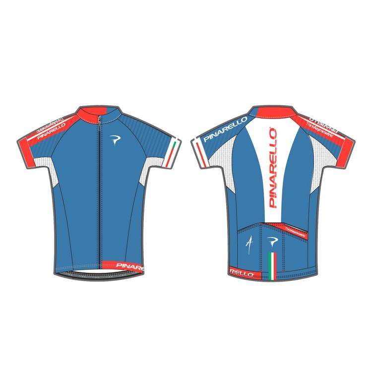 (PINARELLO/ピナレロ)(自転車用ウェア/男性用/メンズ)Corsa - PISTA フルジップジャージ Italia Blue